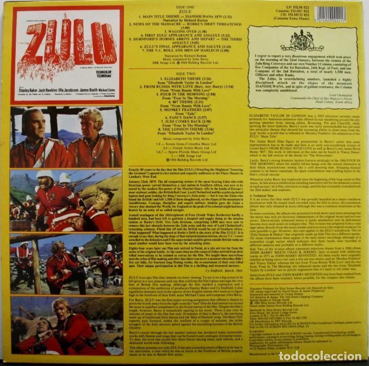 Discos de vinilo: ZULU. JOHN BARRY - Foto 2 - 160015738