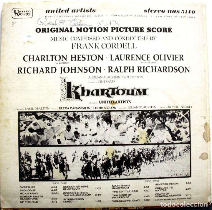 Discos de vinilo: KHARTOUM. FRANK CORDELL - Foto 2 - 160016586