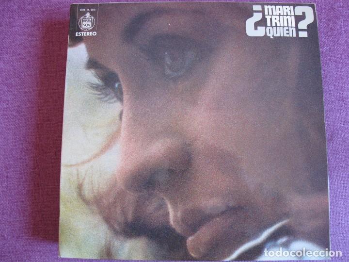 LP - MARI TRINI - QUIEN (SPAIN, HISPAVOX 1974) (Música - Discos - LP Vinilo - Solistas Españoles de los 70 a la actualidad)