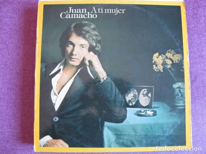 LP - JUAN CAMACHO - A TI MUJER (SPAIN, CBS 1975) (Música - Discos - LP Vinilo - Solistas Españoles de los 70 a la actualidad)