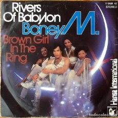 Discos de vinilo: BONEY M : RIVERS OF BABYLON [DEU 1978] 7'. Lote 160018750