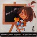 Discos de vinilo: LOS CHAVALITOS T.V. VAMOS AL COLEGIO. EP ESPAÑA. Lote 160021898
