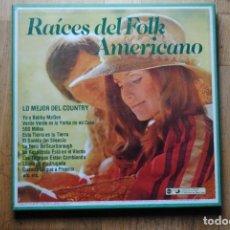 Discos de vinilo: BOX RAICES DEL FOLK AMERICANO. LO MEJOR DEL COUNTRY. RCA. 6 DISCOS LP NUEVOS.. IMPECABLE. Lote 160026586