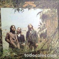 Discos de vinil: AMERICA (2) - HAT TRICK (LP, ALBUM) LABEL:WARNER BROS. RECORDS, WARNER BROS. RECORDS CAT#: WB 56 01. Lote 160041550