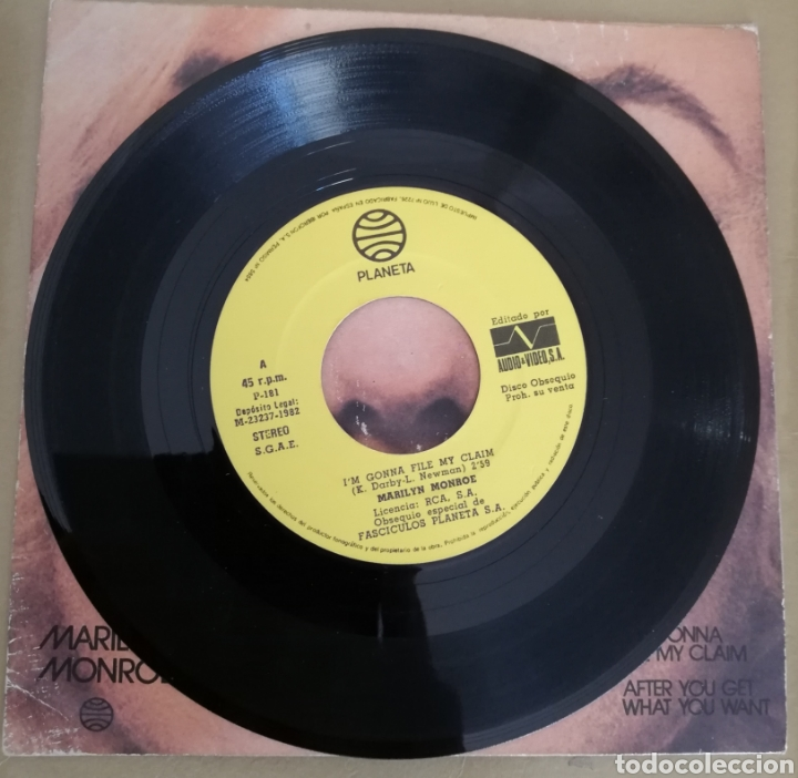 Discos de vinilo: Marilyn Monroe - I'm gonna file my claim - Foto 2 - 160072222