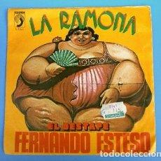 Disques de vinyle: FERNANDO ESTESO (SINGLE 1976) LA RAMONA - EL DESTAPE (HUMOR). Lote 160169926