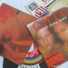 Discos de vinilo: 4 SINGLES DE VINILO DE CHIC EVERYBODY DANCE, DANCE DANCE DANCE, LE FREAK. Lote 160172774
