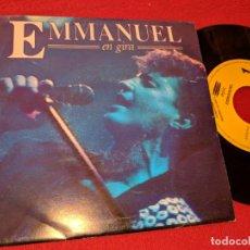 Discos de vinilo: EMMANUEL POTPURRI EN GIRA 7'' SINGLE 1993 EPIC PROMO UNA CARA. Lote 160173082