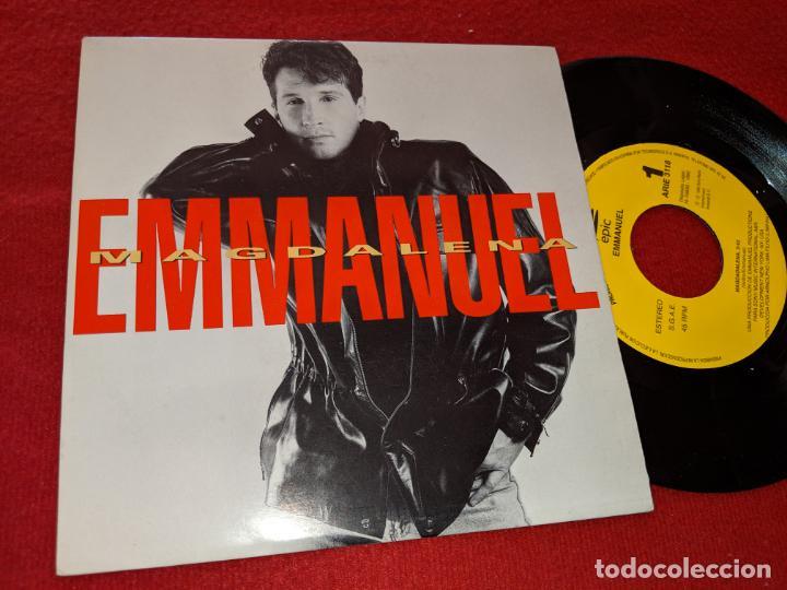 EMMANUEL MAGDALENA 7'' SINGLE 1992 EPIC PROMO UNA CARA (Música - Discos - Singles Vinilo - Solistas Españoles de los 70 a la actualidad)