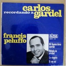 Discos de vinilo: FRANCIS PELUFFO - RECORDANDO A CARLOS GARDEL. Lote 160175458