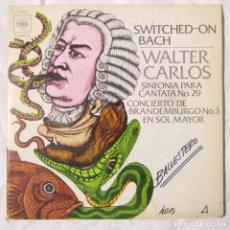 Discos de vinilo: SINGLE VINILO WALTER CARLOS, SWITCHED ON BACH . Lote 160180106