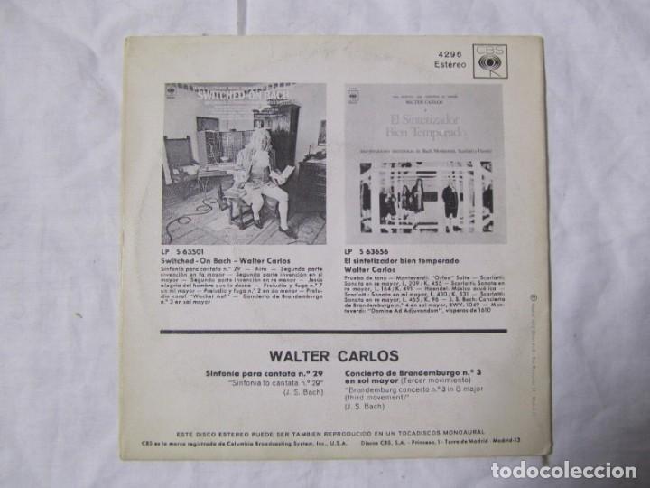 Discos de vinilo: Single vinilo Walter Carlos, Switched on Bach - Foto 2 - 160180106