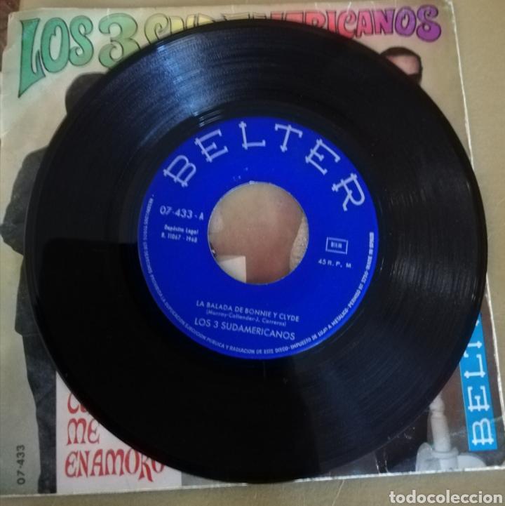 Discos de vinilo: Los 3 sudamericanos - La balada de Bonnie y Clyde - Foto 2 - 160203825