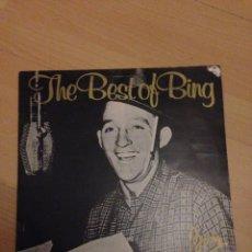 Discos de vinilo: THE BEST OF THE BING CROSBY LP INGLATERRA. Lote 160206673