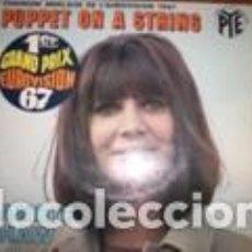 Discos de vinilo: 45 GIRI EP SANDIE SHAW PUPPET ON A STRING 1ER GRAND PRIX EUROVISION 67. Lote 160212638
