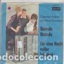 Discos de vinilo: CATERINA VALENTE & SILVIO FRANCESCO QUANDO QUANDO QUANDO . Lote 160226358