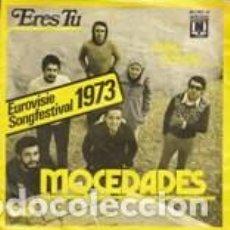 Discos de vinilo: 45 GIRI MOCEDADES ERES TU LABEL OMEGA BELGIEN EUROVISIE SONGFESTIVAL 1973. Lote 160228618