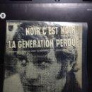 Discos de vinilo: EP JOHNNY HALLYDAY : NOIR C'EST NOIR ( TREMENDA VERSION EN FRANCES DEL BLACK IS BLACK DE LOS BRAVOS. Lote 160297950