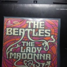 Discos de vinilo: SG THE BEATLES : LADY MADONNA + THE INNER LIGHT . Lote 160298506