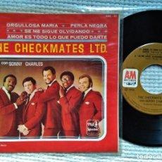 Discos de vinilo: THE CHECKMATES LTD. - '' PROUD MARY + 3 '' EP 7'' MEXICO. Lote 160300614