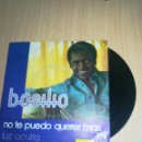 Discos de vinilo: BASILIO - NO TE PUEDO QUERER MÁS - LUZ OCULTA. Lote 160311608