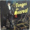 Discos de vinilo: MAESTRO CISNEROS CON SU ORQUESTA TÍPICA: 4 TANGOS DE G. MONREAL: MODERNÍSIMO 1, 2, 3, 5. Lote 160352718
