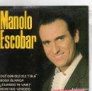 Discos de vinilo: EP 1964 - MANOLO ESCOBAR - BODA BLANCA + 3. Lote 160374238
