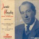 Discos de vinilo: SINGLE DE JACINTO ALMADÉN A LA GUITARRA PEPE BADAJOZ. Lote 160384922