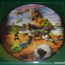 Discos de vinilo: IRON MAIDEN RUNNING TO THE FINAL FRONTIER PICTURE DISC. Lote 160391198