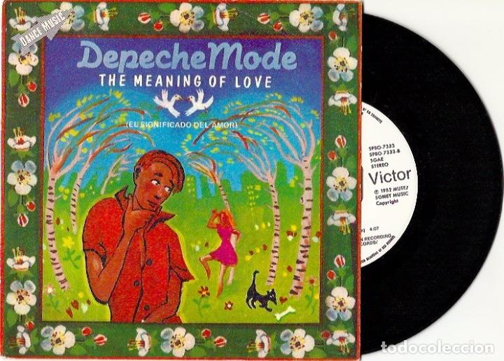 Discos de vinilo: Depeche Mode. The meaning of love. People are people. Leave in silence. See you (4 vinilo singles) - Foto 3 - 160403334