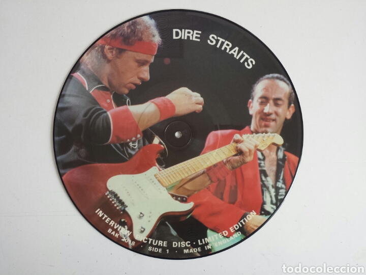 DIRE STRAITS. INTERVIEW PICTURE DISC LP. EN MUY BUEN ESTADO (Música - Discos - LP Vinilo - Pop - Rock - New Wave Extranjero de los 80)