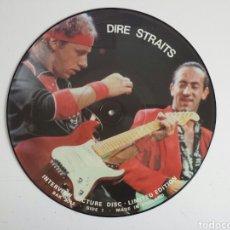 Discos de vinilo: DIRE STRAITS. INTERVIEW PICTURE DISC LP. EN MUY BUEN ESTADO. Lote 160424054