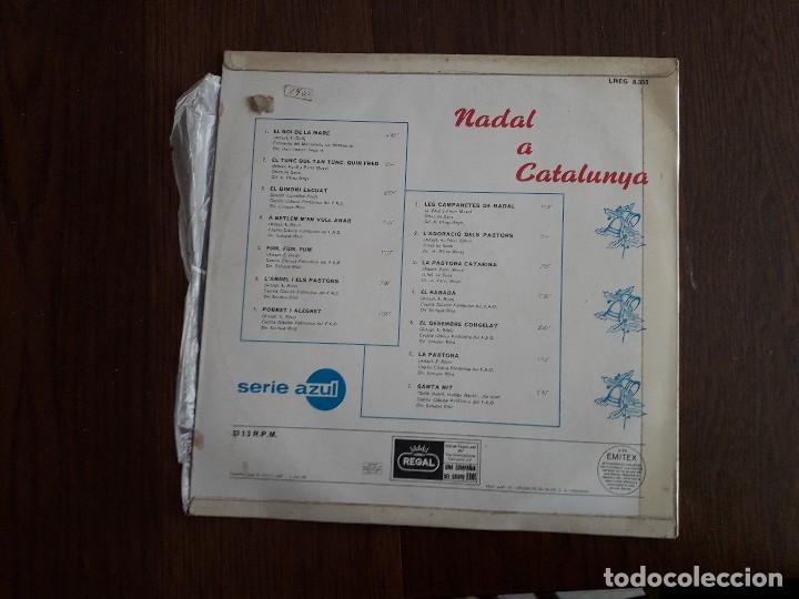 Discos de vinilo: disco vinilo LP Nadal a Catalunya, villancicos populares de Catalunya, LREG 8.055 año 1968 - Foto 2 - 160436470