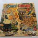Discos de vinilo: SINGLE - CONTES CATALANS - L' ESCOLANET DE LA VERGE/ EN PATUFET I ELS CARGOLS VSD09. Lote 160436674