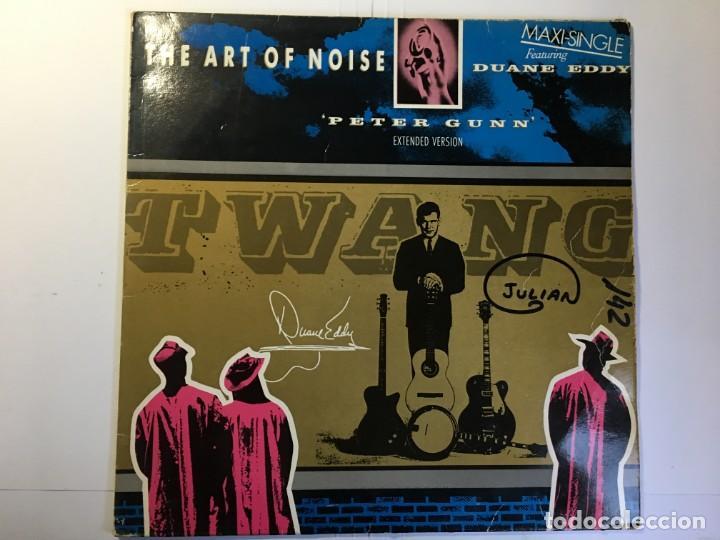 DISCO MAXI SINGLE THE ART OF NOISE - PETER GUN - FEATURING DUANE EDDY (Música - Discos de Vinilo - Maxi Singles - Pop - Rock - New Wave Extranjero de los 80)