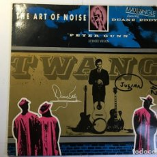 Discos de vinilo: DISCO MAXI SINGLE THE ART OF NOISE - PETER GUN - FEATURING DUANE EDDY. Lote 160445234