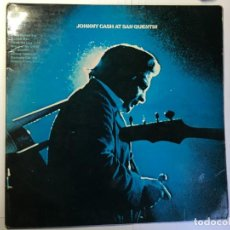 Discos de vinilo: DISCO LP JOHNNY CASH AT SAN QUENTIN. Lote 160459638