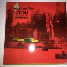 Discos de vinilo: DISCO LP ALPHAVILLE - JET SET - GOLDEN FEELING. Lote 160461206