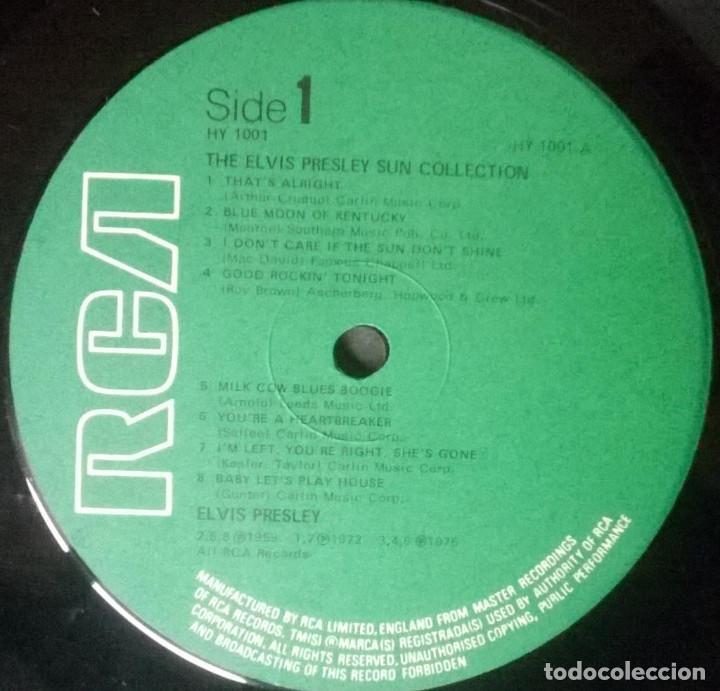 Discos de vinilo: Elvis Presley. The sun collection, RCA, UK 1975 LP (HY 1001 green label) - Foto 3 - 160461414