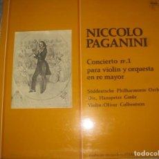 Discos de vinilo: NICCOLO PAGANINI CONCIERTO N1 PARA VIOLIN DOBLE CARPETA (ZAFIRO -1974) OG ESPAÑA. Lote 160473390