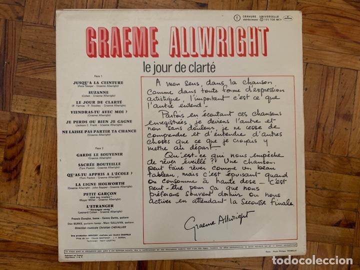 Discos de vinilo: Graeme Allwright – Le Jour De Clarté Sello: Mercury – 135 708 MCY, Mercury – 135.708 MCY Formato: - Foto 2 - 191494603