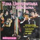 Discos de vinilo: TUNA UNIVERSITARIA DE BARCELONA: ESTUDIANTINA (EN LA NOCHE PERFUMADA) / CLAVELITOS / GERANIO + 1. Lote 160481494