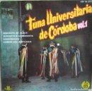 Discos de vinilo: TUNA UNIVERSITARIA DE CÓRDOBA: VOL. 1: SERENATA DE ALDEA / SERENATA A LA MEZQUITA / CORDOBESITA + 1. Lote 160481870