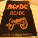 Discos de vinilo: AC/DC LP FOR THOSE ABOUT TO ROCK 81 ORIGINAL ÚNICO ESPAÑA CON LA INENCONTRABLE FUNDA INTERIOR. Lote 160485518
