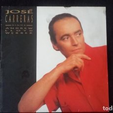 Discos de vinilo: LP JOSÉ CARRERAS, SINGS ANDREW LLOYD WEBBER, 1989. Lote 160498722
