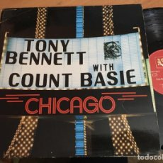 Discos de vinilo: TONY BENNETT WITH COUNT BASIE (CHICACO) LP GERMANY 1984 (B-0). Lote 160516370
