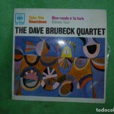 Discos de vinilo: THE DAVE BRUBECK QUARTET TAKE FIVE + 3 (EP DE 4 CANCIONES) CBS 1963 MUY BUEN ESTADO. Lote 160521734
