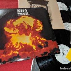 Discos de vinilo: KISS THE ORIGINALS 3LP 1976 CASABLANCA NBLP 7032 PROMO USA EDICION AMERICANA+LIBRETO+PEGATINAS. Lote 199424720