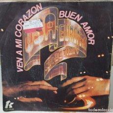 Discos de vinilo: SINGLE / USA EUROPEAN CONNECTION / VEN A MI CORAZON, BUEN AMOR - VIENE EL AMOR, AMOR ADOLESCENTE. Lote 160538970