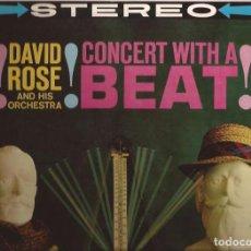 Discos de vinilo: LP DAVID ROSE CONCERT WITH A BEAT MGM SE3852 USA. Lote 160558446